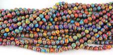 6mm Multicolor Turkey Turquoise Gemstone Round Loose Bead 15''