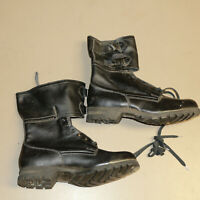 New Vintage Slovakia Combat Boots By SVIT, Leather Lace Up Black US11.5