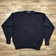 Ralph Lauren Navy Cotton Crewneck Sweater Men's Sz. S A43