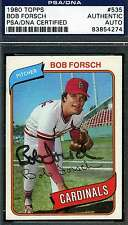 BOB FORSCH 1980 TOPPS PSA/DNA CERTIFIED SIGNED AUTHENTIC AUTOGRAPH