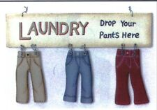 DROP YOUR PANTS HERE Laundry Room Sign Country Wooden wall Home Decor Plaque