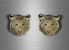 2x sticker car decal biker tuning tiger head animal tigers jdm room wall