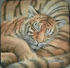 Tiger, Sleeping , S 770 Tapestry Cotton Pillow Fabric