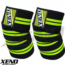 Xeno 1Pair HEAVY DUTY KNEE WRAPS FOR POWER LIFTING/BODYBUILDING