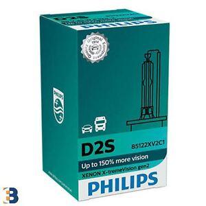 Philips D2S X-treme Vision 150% mehr Ansicht Xenon Glühbirnen Single 85122XV2C1
