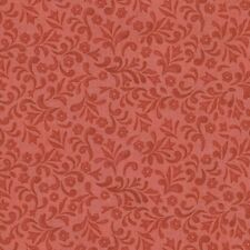 New listing Patriotic Floral Swirls Red 100% Cotton Fabric by The Yard