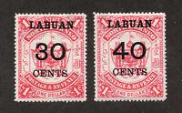 Labuan - SG# 78 & 79 MH   /       Lot 0520720