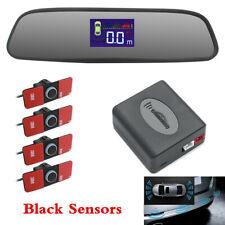Rearview Mirror LCD Parking Sensor Kit 4Pcs Sensors Car Reversing Radar System