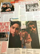 The Beastie Boys, Lot of Three Full and Two Page Vintage Clippings