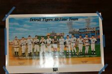 """1999 MLB Detroit Tigers All Time Team Poster 33"""" x 20"""" Morris Trammell Gibson"""