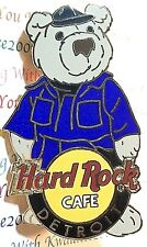 Hard Rock Cafe Detroit Teddy Bear Series Bob the Mechanic Bear 2004 Pin NEW LE