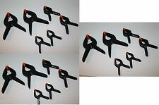 "18 Piece Spring Clamps Set Grip Clips Hard Plastic Micro DIY Tools 3"" 4"" 6"" Size"