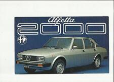 ALFA Romeo 2000 brochure 1971 1972