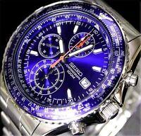 Herren Armbanduhr Seiko Aerospace Pilot Slide Rule Chronograph Snd255 Snd255p1