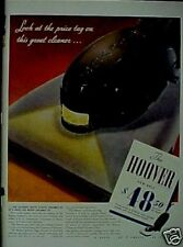 1941 Hoover Vacuum Sweeper Household Appliance Print AD