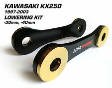 LUST RACING Kawasaki KX250 Lowering kit 1997-2003 Drop Links Linkage Dogbones