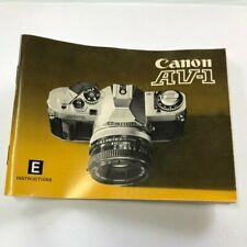 CANON AV-1 SLR 35mm CAMERA OWNERS INSTRUCTION MANUAL
