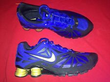 Nike Shox Turbo 14 Running Sneakers Shoes Hyper Blue Gold Mens 8 Trainers New