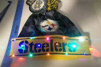 Pittsburgh Steelers Winter Hat football NFL LED Light Up HAT Pom Beanie Knit Cap
