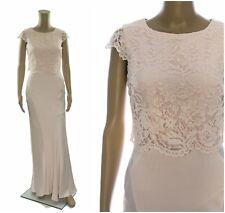 ex Coast Dena Lace Overlay Satin Panelled Fishtail Maxi Occasion Dress RRP £199