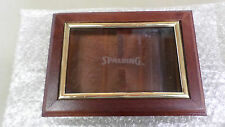 1329M Vtg Spalding 2 Deck Playing Card Holder Wood Hinged w/Glass Window TAIWAN
