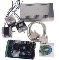 CNC Stepper Motor Driver Board 3 Axis NEMA23 Kit 24V 15A Power Supply 3.5A Mach3