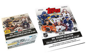 2019-20 Topps NHL Hockey Stickers Box of 50 Packs plus Sticker Album