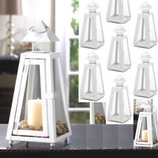 Lot 10 Charming White Lantern Candle Holder Wedding Centerpieces