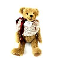 "15"" Mohair Teddy Bear Handmade created by Linda J's Brown One of a Kind w/Tag"