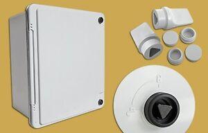 Adaptable Waterproof Box Enclosure with Lockable Door 322x275x170mm + B/Plate