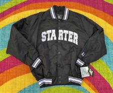 Starter Bomber Jacket Mens Medium Black Deadstock With Tags Vintage Starter