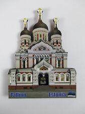 Estonia Tallinn Kathedrale Holz Souvenir Reise Magnet,Neu