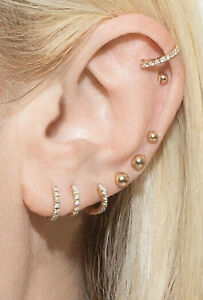 SALE 9ct 9K Gold Filled Baby Girl Men Ladies Plain Hoop Earring Birthday ////585G