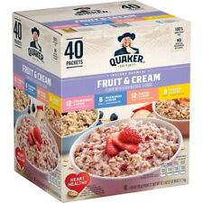 QUAKER INSTANT OATMEAL FRUIT & CREAM VARIETY PACK (40 CT) GREAT VALUE!!