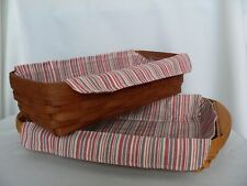 Longaberger Small Serving Tray or Bread Liner Only - Market Stripe - New