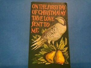 #1445 #1444 FDC 1971 USPS On the First Day of Christmas Card My True Love M004