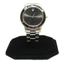 Movado Museum 84.C2.862.2 Stainless Quarts Sapphire Wristwatch Black Dial - 38mm