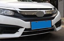 2 PCS Chrome Bottom Front Bumper Moulding Cover Trim for 2016-2017 Honda Civic