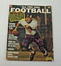 ALL PRO 1965 Football Magazine. Cover, Fran Tarkenton, Minnesota Vikings