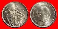 5 PESETAS FRANCO 1957-67 SIN CIRCULAR ESPAÑA