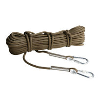 Professional Rock Climbing Rope Outdoor 12KN Safety Protect Rope & Carabiner