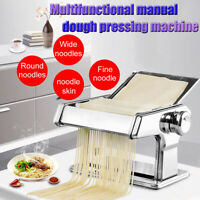 Pasta Noodle Maker Machine Cutter Manual Roller Fresh Spaghetti Stainless Steel