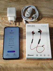Huawei Honor View 20 - 128 Go - Sapphire Blue (Désimlocké) + sport earphones