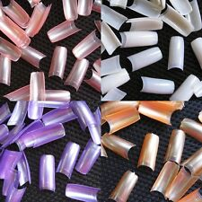 500 French Acrylic Tips Pearly Pearl Color Artificial Half False Nail Art Tips