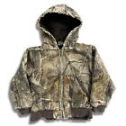Carhartt Toddler Camo Realtree Jacket 5T Zip Vintage Hunting Outdoor
