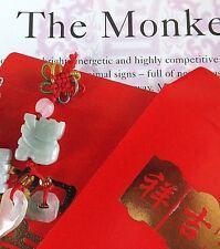 Monkey Jade Chino Zodiaco Animal Colgante Red Envelope fiesta de cumpleaños de Año Nuevo