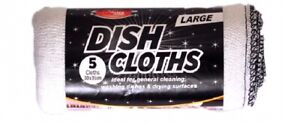 NEW LARGE DISH CLOTHS, IDEAL FOR CLEANING & WASHING DISHES, ABSORBENT & REUSABLE