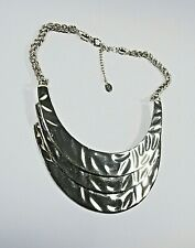 EQUIP 3 LAYER MOON SHAPED PLATES GOLDEN METAL CHAIN NECKLACE AUSTRALIAN STOCK