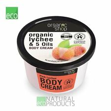 Organic Shop Body Cream Pink Lychee Organic Lychee & 5 Oils 250ml