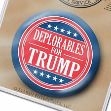 "Deplorables for Donald Trump Button - Mike Pence 2.25"" Pin Badge 2020"